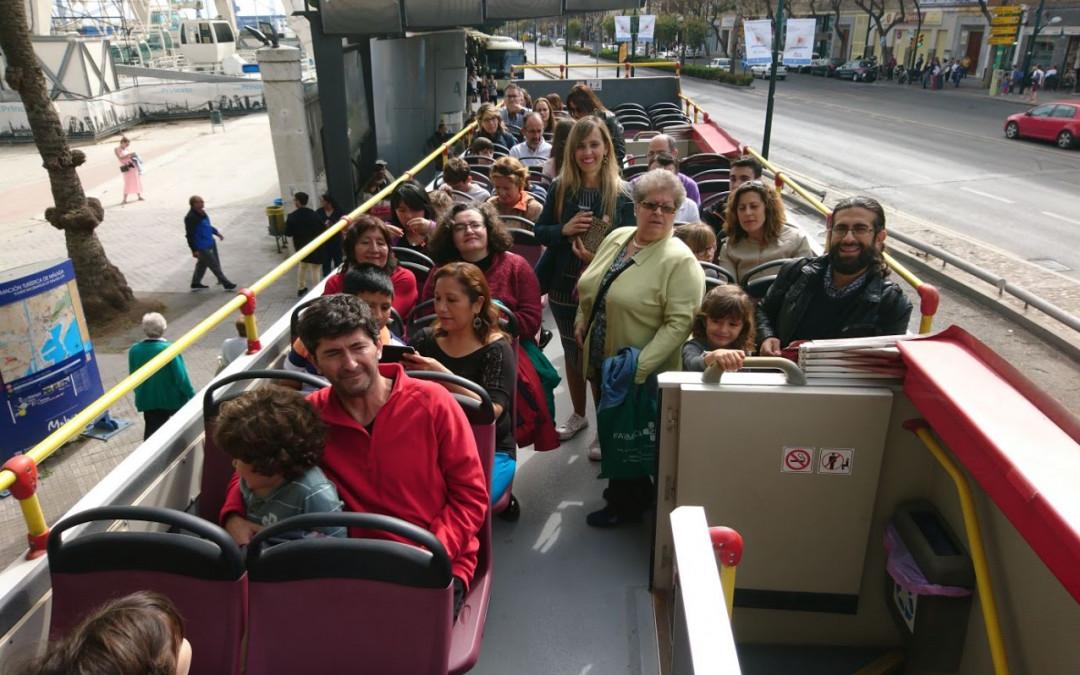 De paseo en Bus Turístico por Málaga
